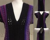 V-Neck Sweater-Pullover V-Neck Sweater-Women/Junior Sweater-Crocheted Women/Junior V-Neck-Crocheted VNeck Sweater-Crocheted Pullover Sweater
