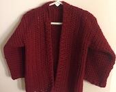Crocheted 2T Boys Cardigan-Crocheted Boys Sweater-Handcrafted Boys Cardigan-Handcrafted 2T Boys Sweater-Handcrafted Sweater-Boys Cardigan