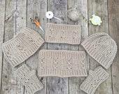 Twisted Hat, Cowl & Gloves Set-Unisex Winter Set-Customize Winter Set-Winter Set-Jos Twisted Set-Twisted Fall Set-Crochet Winter Set-Custom