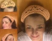 Crocheted Bandana - Crocheted Headband - Cotton Bandana - Cotton Headband - Crocheted Headwear - Handcrafted Bandana - Handcrafted Cotton