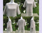 Crocheted Tunic-Kaycee Tunic-Kaycee Tunic Adult Size-Tunic-Crochet Beach Cover Up-Crochet Tunic for Women-Crochet Gift Idea for Women