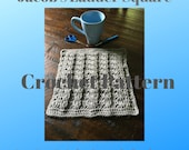 Crochet Pattern-Afghan Square Crochet Pattern-Jacobs Ladder Square Afghan Square-Crochet Pattern for Afghan Square-12x12 Afghan Square