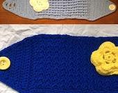Ear Warmers with Flower-Flow-Ear Warmers-Headband with Flower-Crocheted Ear Warmers-Flow-Ear Headband-Crocheted Women/Teen Headband w/Flower