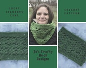 Crochet Pattern-Lucky Diamonds Cowl Crochet Pattern-Cowl Crochet Pattern-How to crochet a Cowl pattern-Lucky Diamonds Cowl Pattern