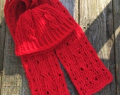 Twisted Twizzlers Set Crochet Pattern-Crochet Pattern for Beanie & Hat in 8 sizes-Unisex Beanie Pattern -Whole Family of Sizes-Hat and Scarf