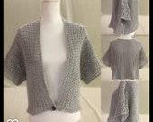 Shrug-Gray Shrug-Crochet Shrug-3X Shrug-3X Gray Shrug-Wedding Shrug-Prom Shrug-Crochet Shrug-Gift Idea for Women-Gift Idea-Crochet Gift