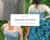 Crochet Pattern-Vee Cami Crochet Pattern-Camisole Crochet Pattern-Tank Top Crochet Pattern-9 sizes to choose from-Women Top Pattern