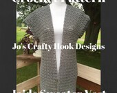 Crochet Pattern-Jaide Sweater Vest Crochet Pattern-Sweater Vest Pattern-Sweater Vest Crochet Pattern-Crochet Pattern-Custom Orders Welcome