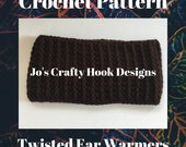 Crochet Pattern-Crochet Ear Warmers Pattern-Crochet Pattern for Ear Warmers-8 sizes-Unisex Ear Warmers Pattern -Unisex Crochet Pattern