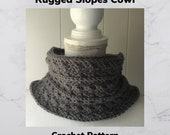 Crochet Pattern-Rugged Slopes Cowl Crochet Pattern-Crochet Pattern for Cowl-Cowl Crochet Pattern-Pattern for Cowl-Rugged Slopes
