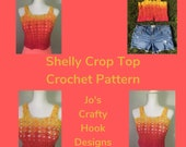 Crochet Pattern-Shelly Crop Top Crochet Pattern-Crop Top Crochet Pattern-Crochet Pattern for Shelly Crop Top-How to Crochet Crop Top