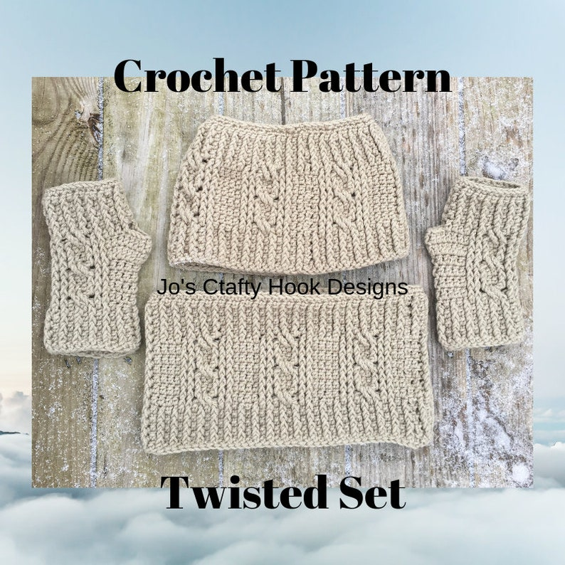 Crochet Pattern-Pattern for Twisted Set Twisted Messy Bun image 0