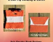 Crochet Pattern-Cream Pop Handbag and Clutch Crochet Pattern-Crochet Pattern for Handbag and Clutch-Pattern for the Cream Pop Handbag Clutch