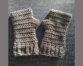 Crochet Pattern, HerringBone Fingerless Gloves, Unisex Crochet Pattern for HerringBone Fingerless Gloves, Pattern for Fingerless Gloves