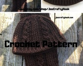 Crochet Pattern-Crochet Pattern for Hat & Scarf-Beanie and Scarf Crochet Pattern-Jim's Twisted Knot Set Crochet Pattern-Hat Crochet Pattern