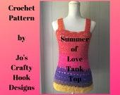 Crochet Pattern-Tank Top-Summer of Love Tank Top Pattern-Tank Top Pattern-Crochet Pattern for Tank Top-Wrapped In Love Tank Top-Cancer Aware