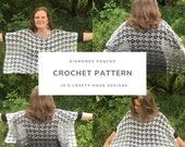 Crochet Pattern-Diamonds Poncho Crochet Pattern-Crochet Pattern for Poncho-Poncho Crochet Pattern-Diamonds Poncho Pattern