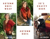 Crochet Pattern-Autumn Hues Wrap Crochet Pattern-Pattern for the Autumn Hues Wrap-Wrap Crochet Pattern-How to crochet the Autumn Hues Wrap