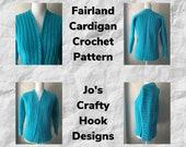 Crochet Pattern-Fairland Cardigan Crochet Pattern-Crochet Pattern for Cardigan-Cardigan Crochet Pattern-Fairland Cardigan Pattern