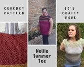 Crochet Pattern-Nellie Summer Tee Crochet Pattern-Crochet Pattern for a Tee-Pattern for the Nellie Summer Tee-Nellie Summer Tee Pattern
