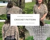 Crochet Pattern-Wrapped in Diamonds Crochet Pattern-Crochet Pattern for Wrap-Shawl Crochet Pattern-Wrap Crochet Pattern-Wrapped in Diamonds