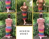 Crochet Pattern-Acacia Skirt Crochet Pattern-Pattern for Acacia Skirt-Skirt Crochet Pattern-Crochet Pattern for Acacia Skirt-Acacia Skirt