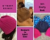 Crochet Pattern-NyBody Beanie Crochet Pattern-Pattern for Preemie to Adult Large Beanies-Beanie Crochet Pattern-Hat Crochet Pattern