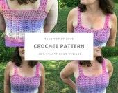 Crochet Pattern-Tank Top of Love Crochet Pattern-Crochet Pattern for Tank Top-Tank Top Crochet Pattern-How to Crochet Tank Top of Love