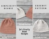 Crochet Pattern-Simplicity Beanie Crochet Pattern-Simplicity Hat-Crochet Pattern for a Beanie-Simplicity Hat Pattern-Beanie Pattern