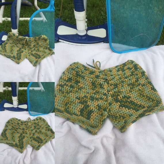 Crocheted Summer Shorts Fits Small Crocheted Shorts For Women Etsy