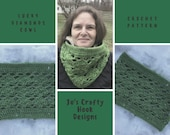 Crochet Pattern-Lucky Diamonds Cowl Crochet Pattern-Cowl Crochet Pattern-How to crochet a Cowl pattern-Lucky Diamonds Cowl Pattern