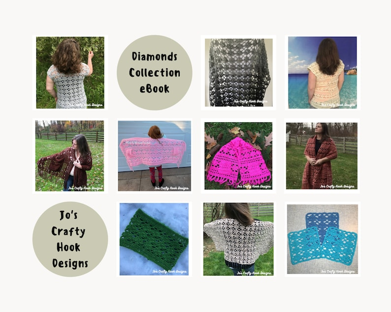 Crochet Patterns-Diamonds Collection eBook-10 Crochet Patterns image 0