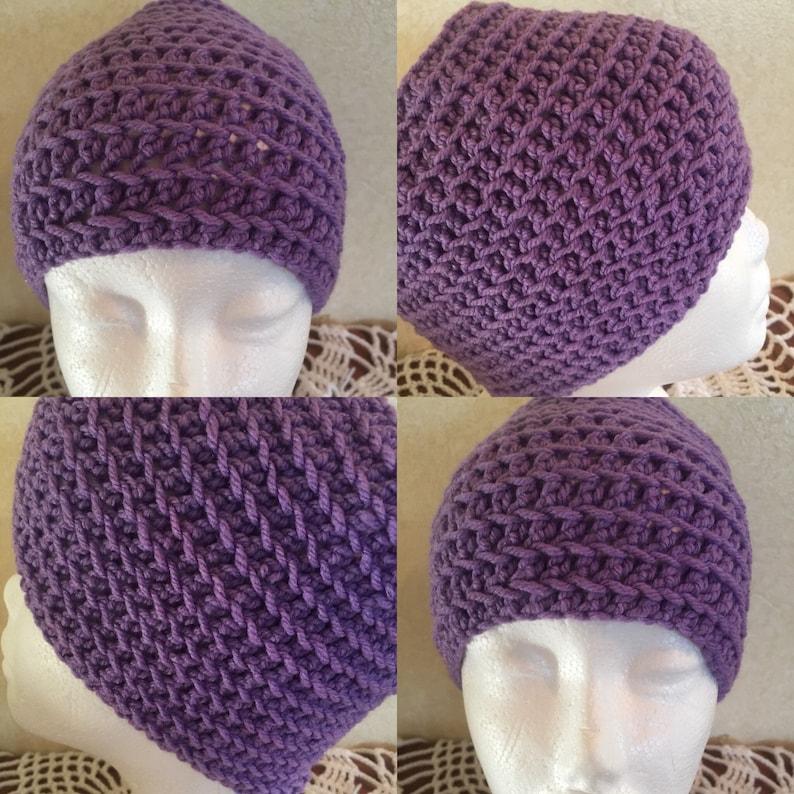 Zig-Zag Messy Bun Hat Pattern-Zig-Zag Hat Pattern-Crochet Hat image 0