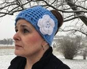 Ribbon Ear Warmers Crochet Pattern-Crochet Pattern for Ribbon Ear Warmers-Ear Warmers/Headband/Headwrap Crochet Pattern-Crochet Pattern