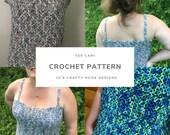 Crochet Pattern-Vee Cami Crochet Pattern-Camisole Crochet Pattern-Tank Top Crochet Pattern-9 sizes to choose from-Women Top Pattern