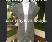 Crochet Pattern-Jaide Sweater Vest Crochet Pattern-Sweater Vest Pattern-Sweater Vest Crochet Pattern-Crochet Pattern-Custom Orders Welcome