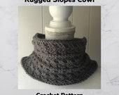Crochet Pattern-Rugged Slopes Cowl Crochet Pattern-Crochet Pattern for Cowl-Cowl Crochet Pattern-Pattern for Cowl-Rugged Slopes