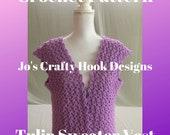 Crochet Pattern for Sweater Vest-Crochet Pattern for Tulip Sweater Vest-Sweater Crochet Pattern-Vest Crochet Pattern-Women Sweater Vest