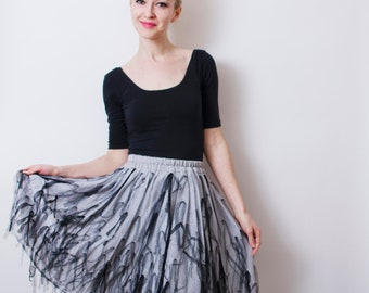 SALE Tulle skirt - silver tulle