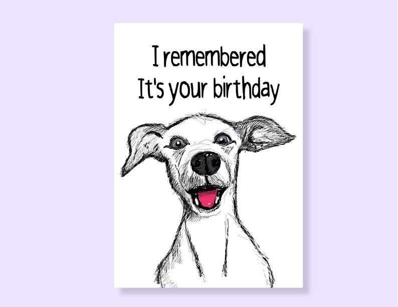 Personalized Card Dog Mom Birthday Printable Instant