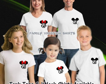Monogramed Disney Shirts, Disney Family Shirts