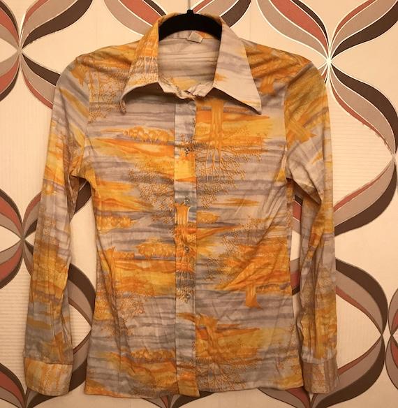 Super Cool Vintage Colorful Button Up shirt