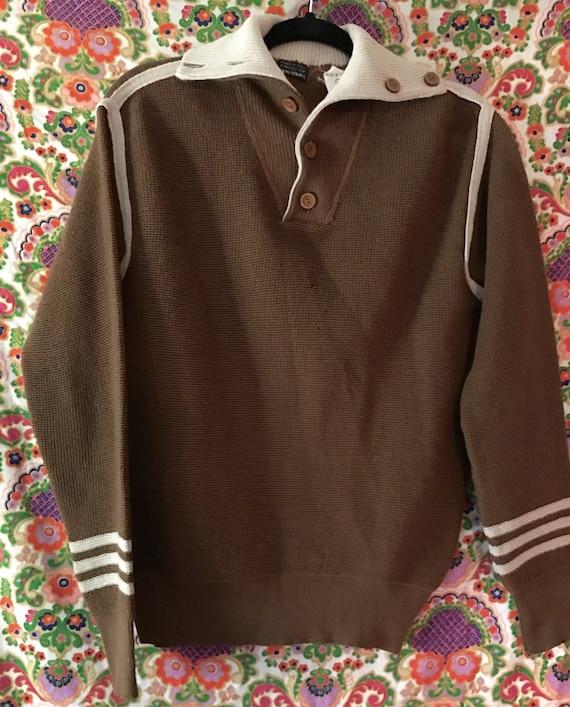 VINTAGE 1960s Pullover Men's Sweater