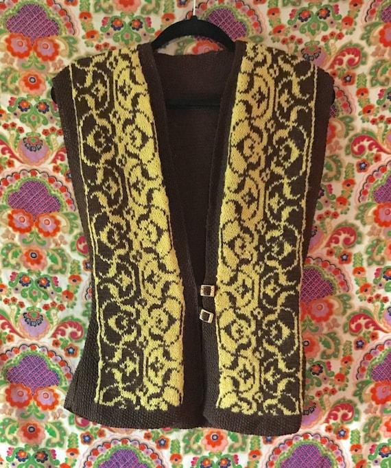 VINTAGE 1970s Sweater Vest