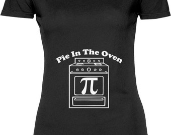 192665075 Funny Pie In The Oven Tshirt Gift T-shirt Tee Shirt Womens Mother Christmas  Pregnant Gift Announcement Maternity Nerd Geek T-shirt Tee Shirt