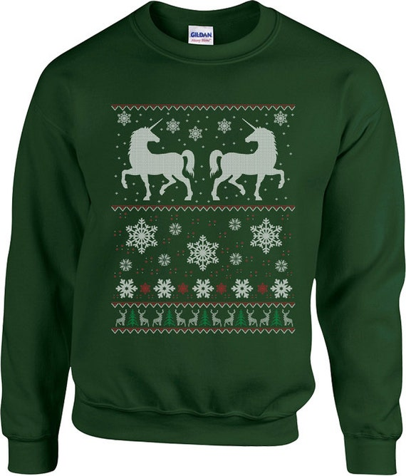2dc06466f2 Funny Unicorns Ugly Christmas Sweater Hoodie Mens Family Shirt