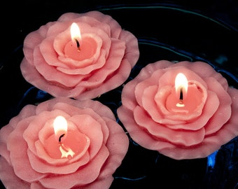 c39d7f181479 Garden Rose Floating Candles box of 4