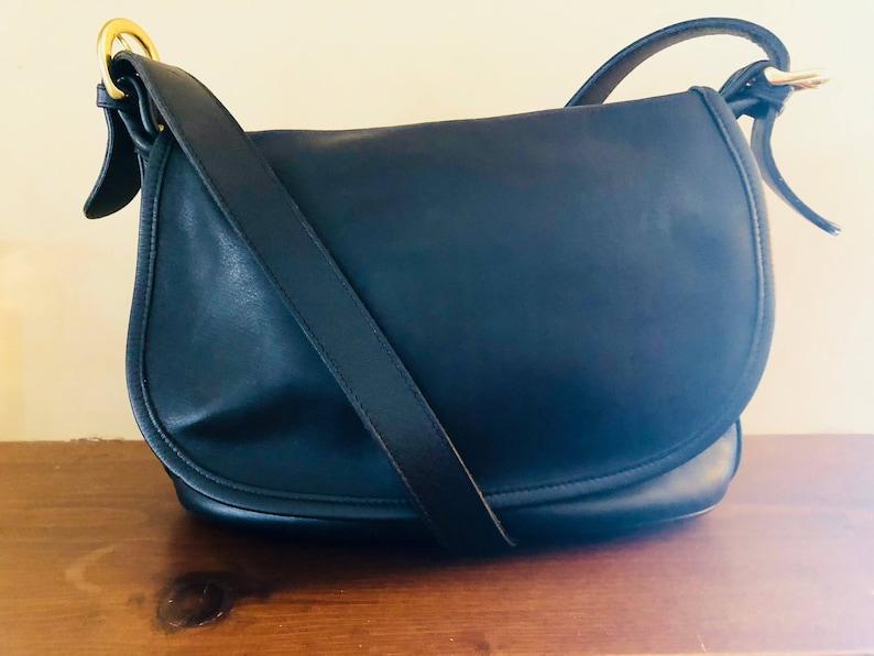 f395cb3530 Gorgeous Vintage Coach Fletcher Bag Soft Black Leather and