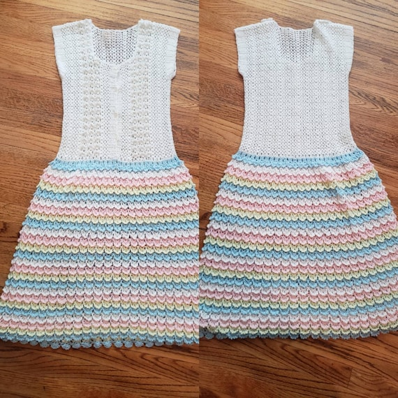 Vintage 1960s Children's Knit Dress