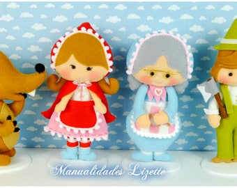 Little Red Riding Hood-wolf-lumberjack-granny-room decor-children-girls-gift-Birthday-Baby Shower-children decoration-fairy tale Riding Hood